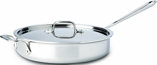 All Clad Stainless Steel Sauté Pan with Lid