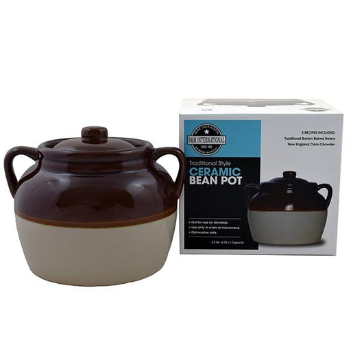 R&M 4.5 Quart Ceramic Bean Pot