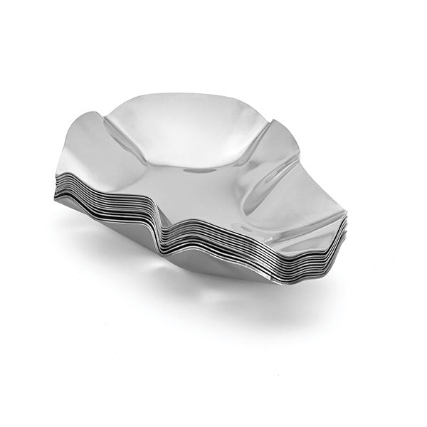 Set of 12 Stainless Steel Oyster Shells