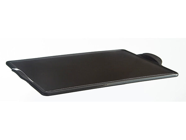 Emile Henry Flame-Top Rectangular Baking Stone Charcoal
