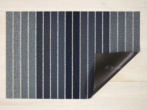 Chilewich Block Stripe Shag Rug in Denim