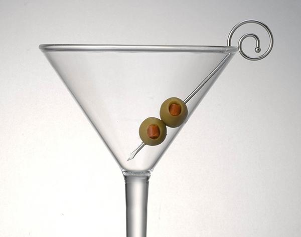 Set of 6 Stainless Steel Spiral Head Martini Picks