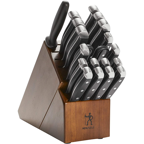 J.A. Henckels International Statement 20 Piece Knife Block Set Dark Brown