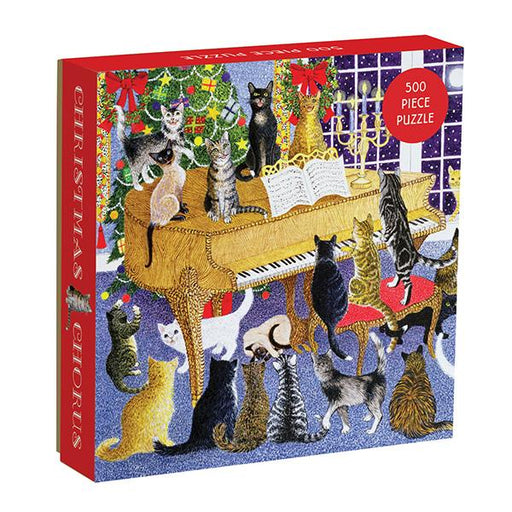 Christmas Chorus Cat 500 Piece Jigsaw Puzzle