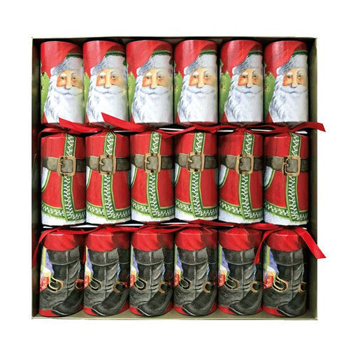 Caspari Set of 6 Santa Claus Lane Christmas Crackers