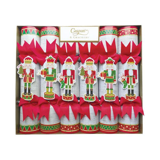 Caspari Set of 6 Gold Nutcracker Parade Christmas Crackers