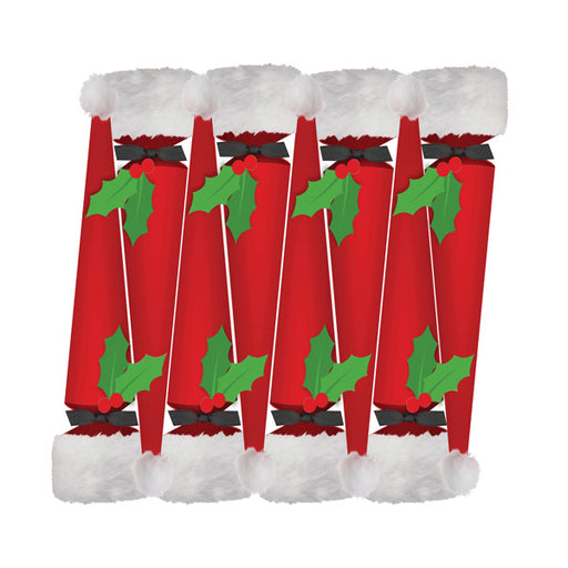 Caspari Set of 8 Santa Hat Christmas Crackers