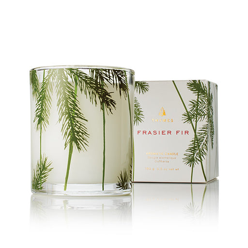 Thymes Frasier Fir Poured Candle in Pine Needle Glass