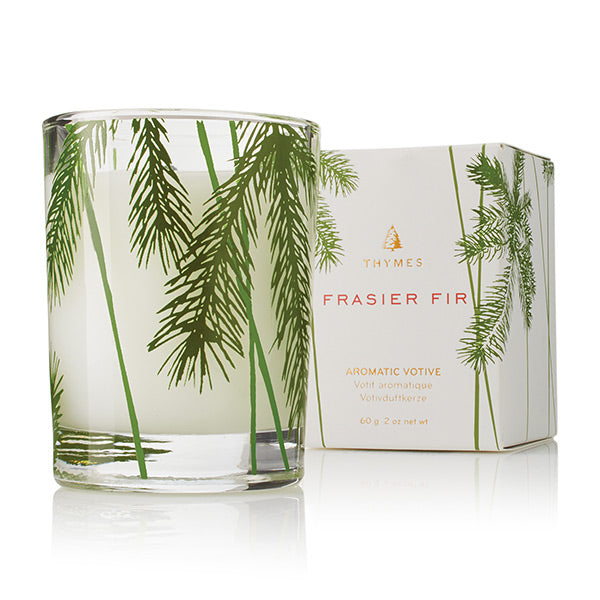 Thymes Frasier Fir Votive in Pine Needle Glass