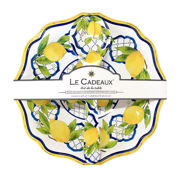Le Cadeaux Palermo Salad Bowl and Servers