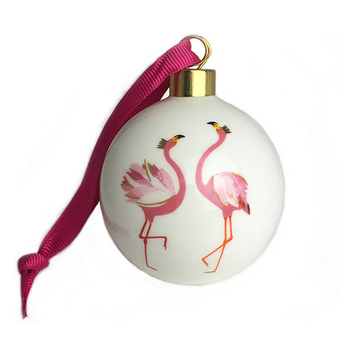 Sara Miller Flamingo Christmas Ornament