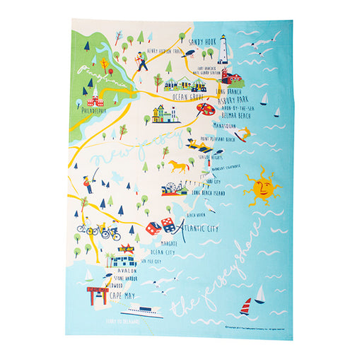 Jersey Shore Tea Towel