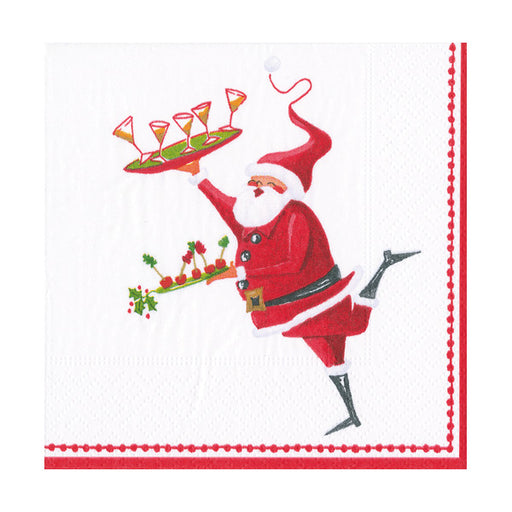 Santa Cocktails Paper Beverage Napkins