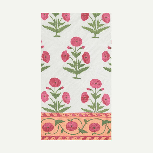 Indian Poppy Fuschia Paper Guest Napkins