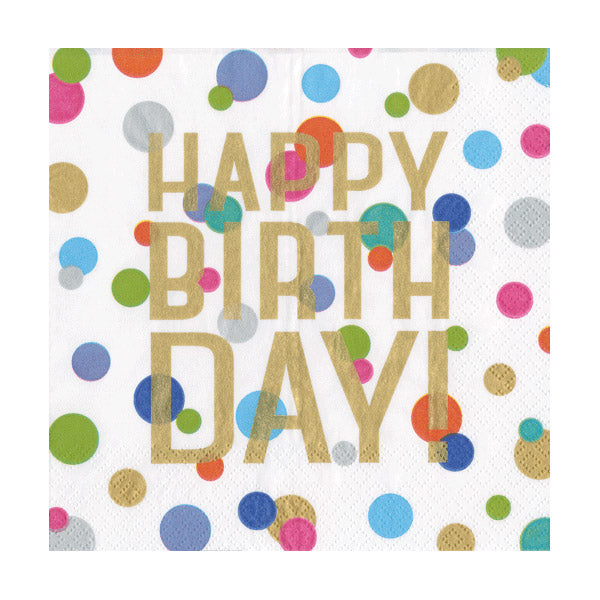 Confetti Birthday Paper Beverage Napkins
