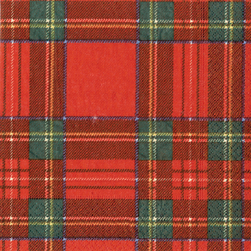 Royal Plaid Paper Beverage Napkins