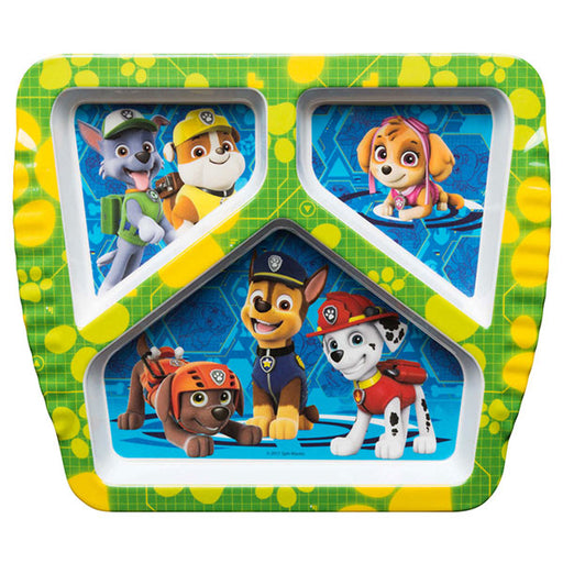 Zak! Designs Paw Patrol 3 Section Plate