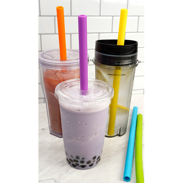 RSVP Silicone Drinking Straw Sets