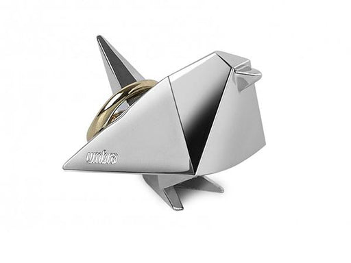 Umbra Origami Chrome Bird Ring Holder