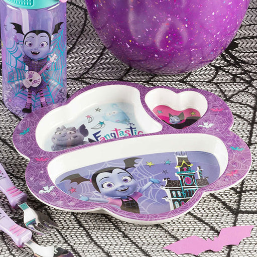 Zak Designs Kid's Vampirina 3 Section Plate