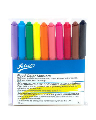 Ateco Set of 10 Food Coloring Markers