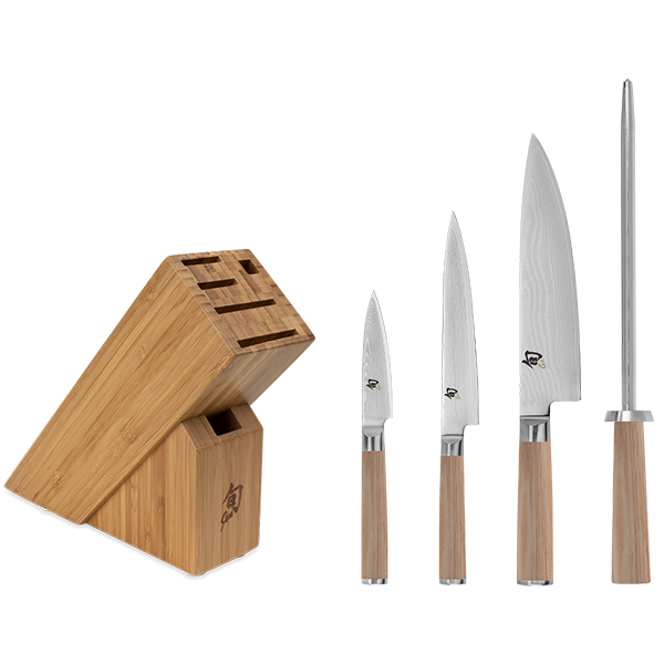 Shun Blonde Classic 5 Piece Starter Knife Block Set