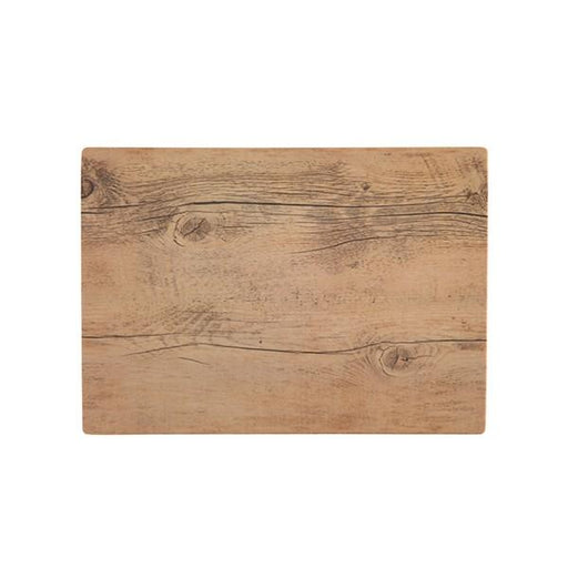"Fortessa 14"" x 10"" Melamine Wood Grain Tray"