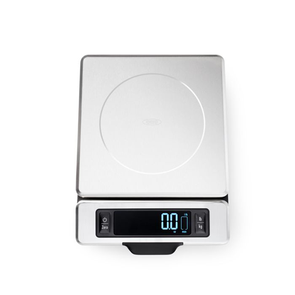 OXO 11 LB Stainless Steel Digital Food Scale with Pull-Out Display