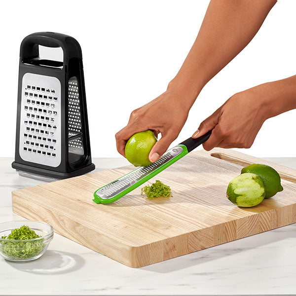OXO Etched Box Grater with Removable Zester
