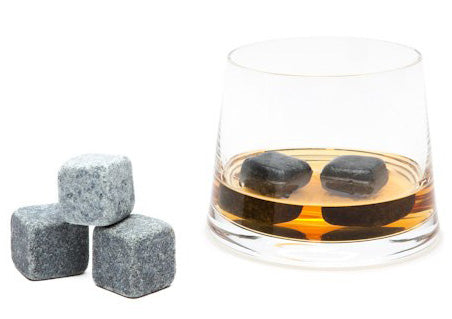 Teroforma Set of 9 Soapstone Natural Whiskey Stones
