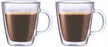 Bodum Set of 2 Bistro 10 oz. Insulated Coffee Mug
