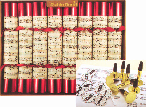 Set of 8 Concerto Musical Christmas Crackers