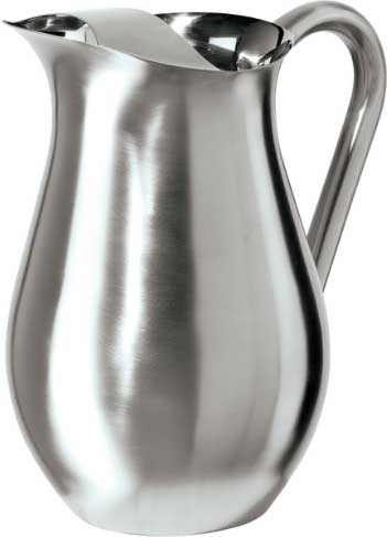 Oggi 2 Quart Stainless Steel Pitcher with Ice Guard