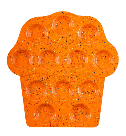 Orange Confetti Cupcake Tray