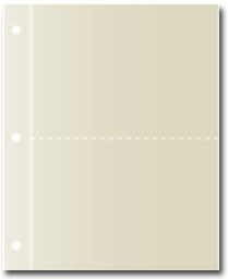"Set of 20 Refill Pages - Hold 5"" x 7"" Cards for Deluxe Kitchen Binders"