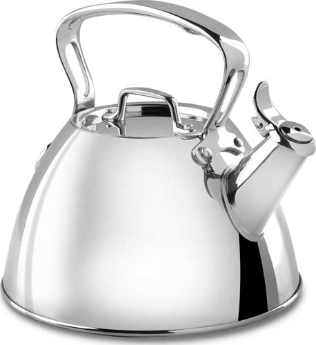 All Clad 2 Quart Stainless Steel Tea Kettle