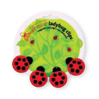Set of 4 Ladybug Magnetic Mini Clips