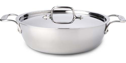 All Clad D3 Stainless Steel 3 Quart Cassoulet