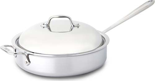 All Clad D3 Stainless Steel 4 Quart Brown & Braise