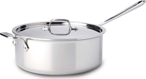 All Clad D3 Stainless Steel 6 Quart Deep Sauté Pot