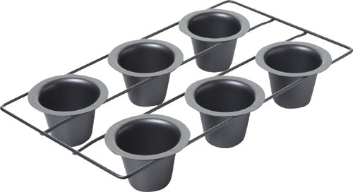 Chicago Metallic Nonstick 6 Cup Popover Pan