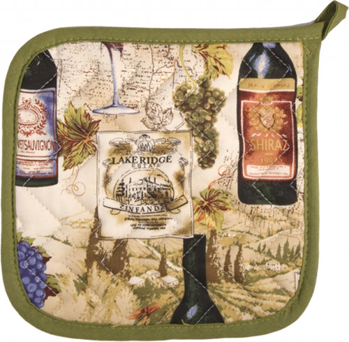 Wine Labels Potholder