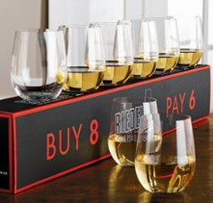Riedel Pay 6 Get 8 O Viognier & Chardonnay Wine Glasses