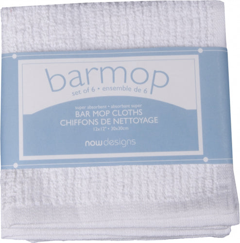 Set of 6 Small Barmop Towels