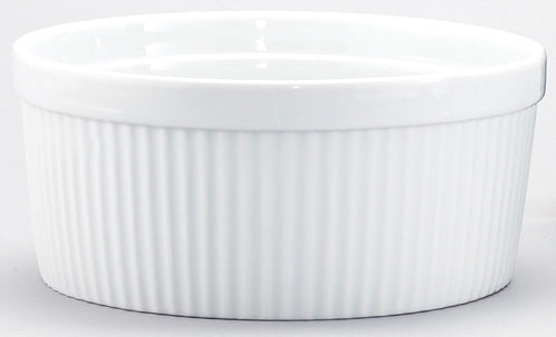 White Ceramic 1.5 Quart Souffle Dish