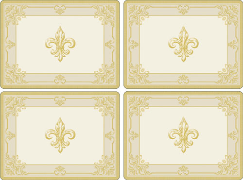 Pimpernel Fleur de Lys Set of 4 Placemats