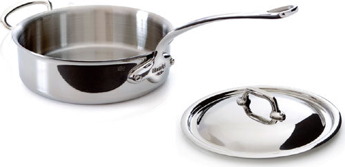 Mauviel M'cook 3.2 Quart Stainless Steel Saute Pan with Lid