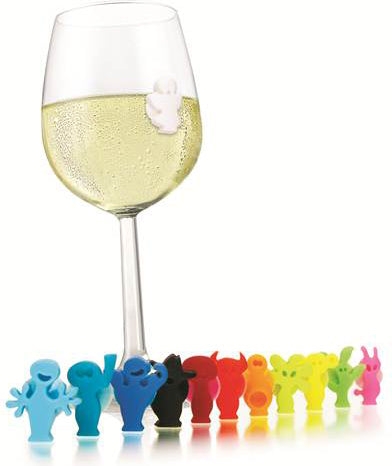 Set of 12 Party People Wine Glass Markers