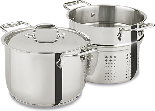 All Clad Stainless Steel 6 Quart Pasta Pot