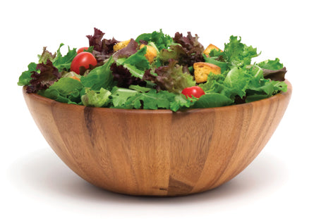 "Acacia 12"" x 4.5"" Round Flair Salad Bowl"
